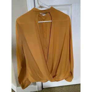 GUESS Golden Yellow Cross Blouse